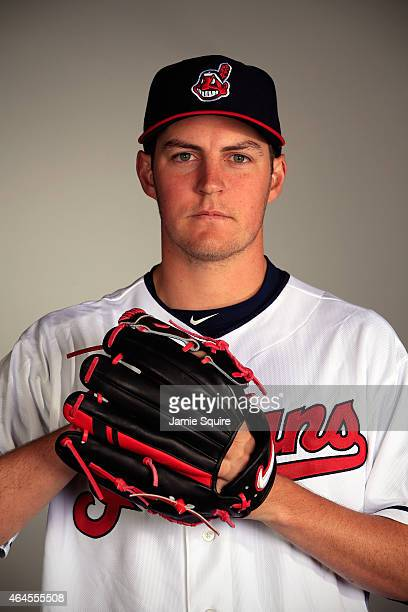 Pitcher Trevor Bauer poses during Cleveland Indians Photo Day on February 26 2015 in Goodyear Arizona