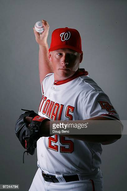 Pitcher Tyler Walker of the Washington Nationals poses during photo day at Space Coast Stadium on February 28 2010 in Viera Florida