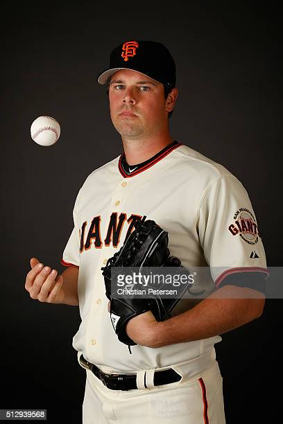 Pitcher Vin Mazzaro of the San Francisco Giants poses for a portrait during spring training photo day at Scottsdale Stadium on February 28 2016 in...