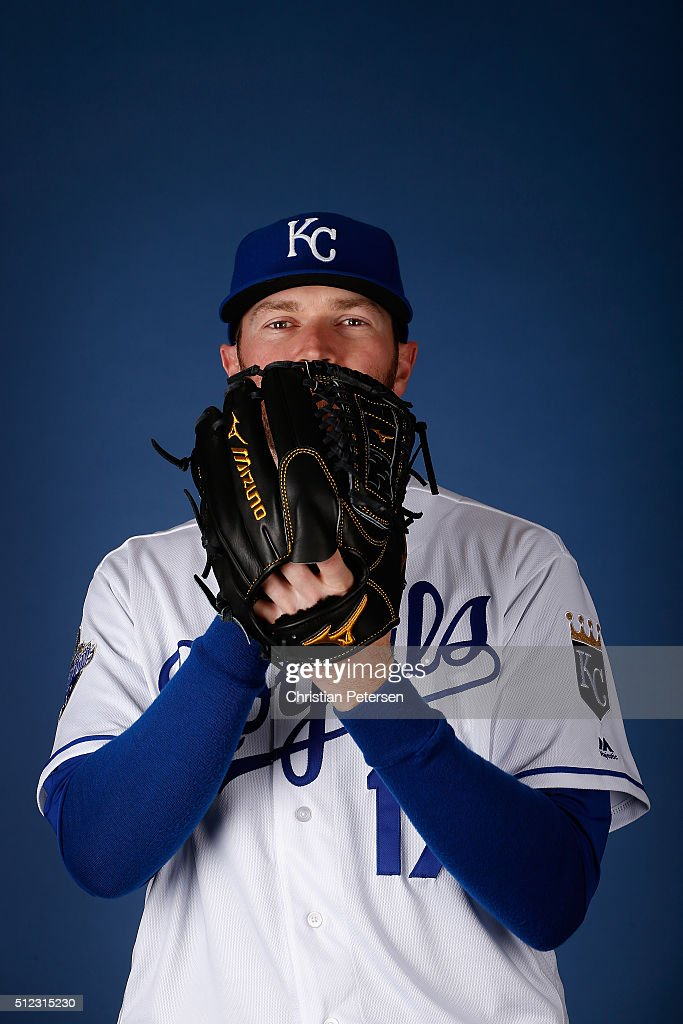Pitcher <a gi-track='captionPersonalityLinkClicked' href=/galleries/search?phrase=Wade+Davis+-+Baseball&family=editorial&specificpeople=8202494 ng-click='$event.stopPropagation()'>Wade Davis</a> #17 of the Kansas City Royals poses for a portrait during spring training photo day at Surprise Stadium on February 25, 2016 in Surprise, Arizona.