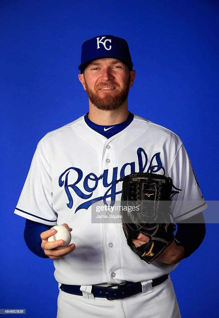Pitcher <a gi-track='captionPersonalityLinkClicked' href=/galleries/search?phrase=Wade+Davis+-+Baseball+Player&family=editorial&specificpeople=8202494 ng-click='$event.stopPropagation()'>Wade Davis</a> #17 poses during Kansas City Royals Photo Day on February 27, 2015 in Surprise, Arizona.