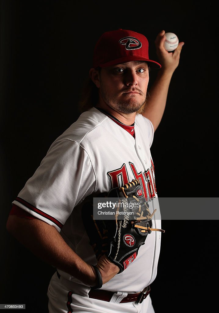 Pitcher Wade Miley #36 of the Arizona Diamondbacks poses for a portrait during spring training photo day at Salt River Fields at Talking Stick on February 19, 2014 in Scottsdale, Arizona.