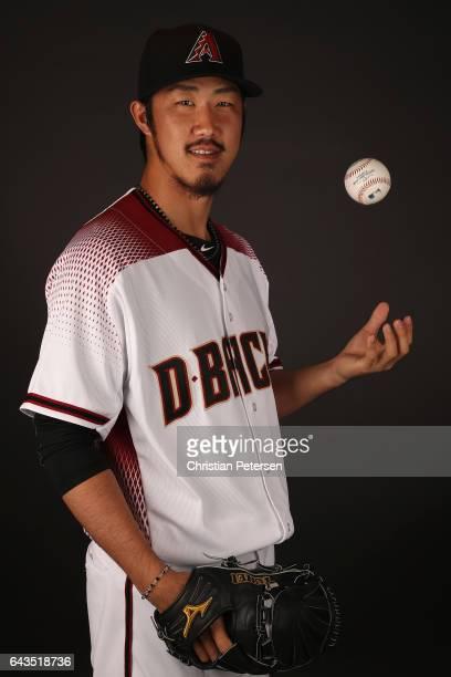 Pitcher Yuhei Nakaushiro of the Arizona Diamondbacks poses for a portrait during photo day at Salt River Fields at Talking Stick on February 21 2017...