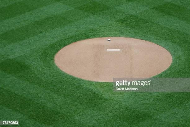 Pitcher's mound on baseball field