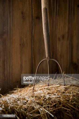 Pitchfork in Hay