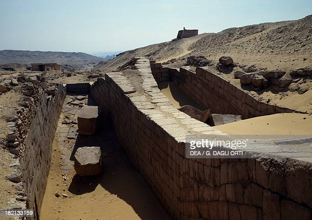Pits dug out in the shape of a boat Unis' Cemetery Saqqara Egyptian Civilisation Old Kingdom Dynasty V