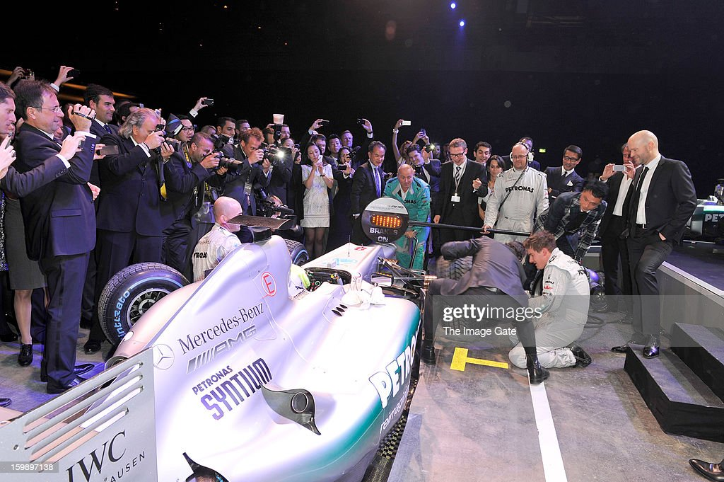 Pitstop at the IWC Schaffhausen Race Night event during the Salon International de la Haute Horlogerie (SIHH) 2013 at Palexpo on January 22, 2013 in Geneva, Switzerland.