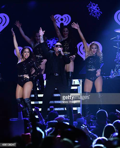 Pittbull performs onstage during Z100's Jingle Ball 2013 presented by Aeropostale at Madison Square Garden on December 13 2013 in New York City
