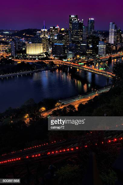 Pittsburgh at Night with Inclined Plane