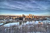 Pittsburgh at Sunset