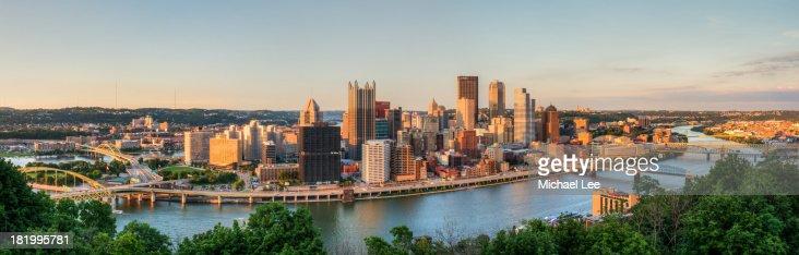 Pittsburgh Golden Light Panorama