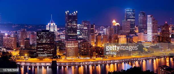 Pittsburgh Nighttime Panorama from Gandview Avenue