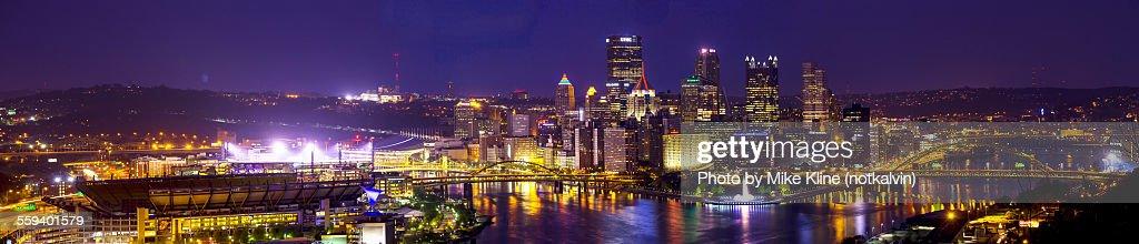 Pittsburgh panorama - night