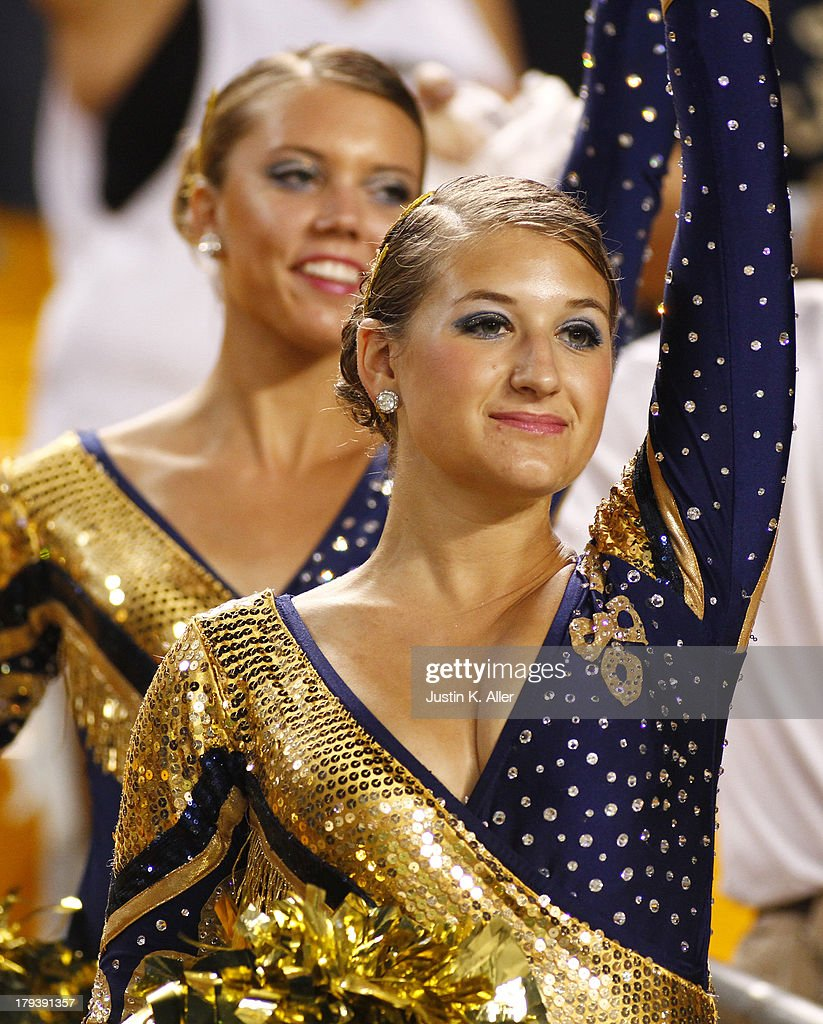 A Pittsburgh Panthers band member cheers against the Florida State Seminoles during the game on September 2, 2013 at Heinz Field in Pittsburgh, Pennsylvania.