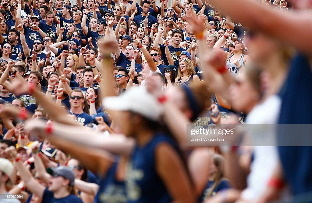Pittsburgh Panthers fans sing 'Sweet Caroline' during the second half against the Youngstown State Penguins during the game at Heinz Field on September 5, 2015 in Pittsburgh, Pennsylvania.
