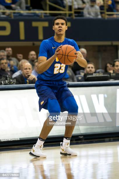 Pittsburgh Panthers Guard Cameron Johnson shoots a three pointer during the college basketball game between the Florida State Seminoles and the...