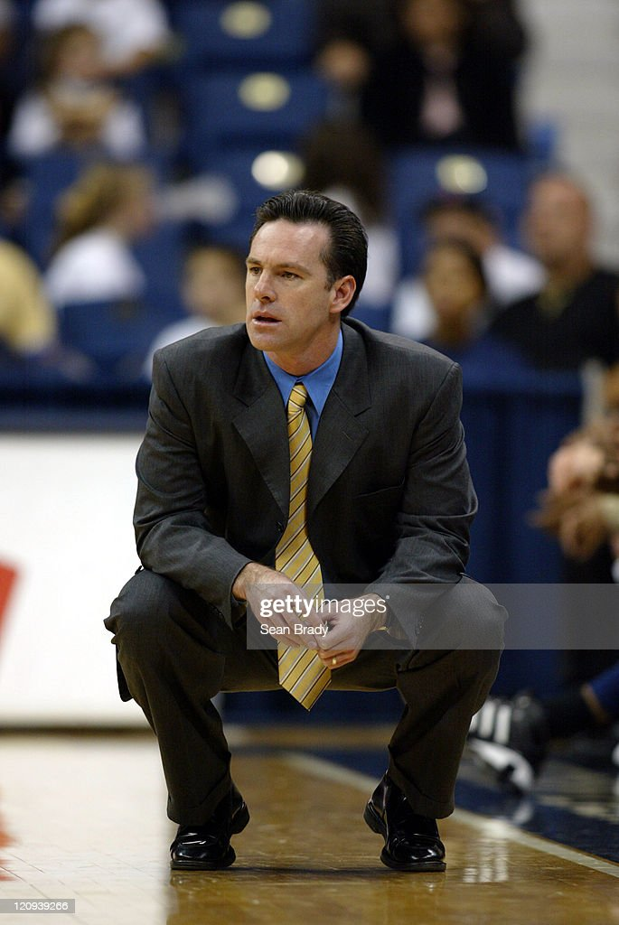 Pittsburgh Panthers' <a gi-track='captionPersonalityLinkClicked' href=/galleries/search?phrase=Jamie+Dixon&family=editorial&specificpeople=234974 ng-click='$event.stopPropagation()'>Jamie Dixon</a> at the Petersen Events Center on November 27, 2004 in Pittsburgh, Pennsylvania.