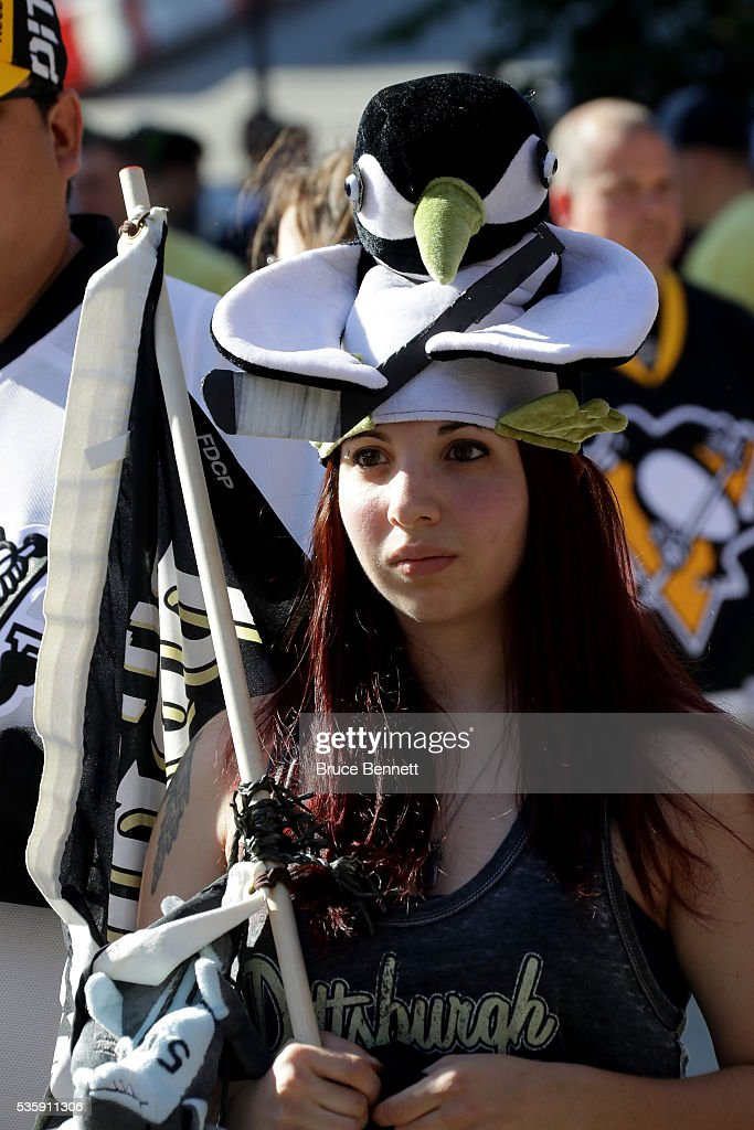 A Pittsburgh Penguins fan looks on outside of the arena prior to Game One of the 2016 NHL Stanley Cup Final between the San Jose Sharks and the Pittsburgh Penguins at Consol Energy Center on May 30, 2016 in Pittsburgh, Pennsylvania.