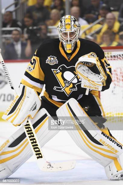 Pittsburgh Penguins Goalie Matt Murray tends net during the first period The Pittsburgh Penguins won 70 in Game Five of the Eastern Conference Final...