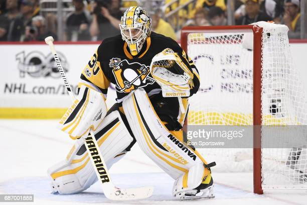 Pittsburgh Penguins goalie Matt Murray tends net during the third period The Pittsburgh Penguins won 70 in Game Five of the Eastern Conference Final...