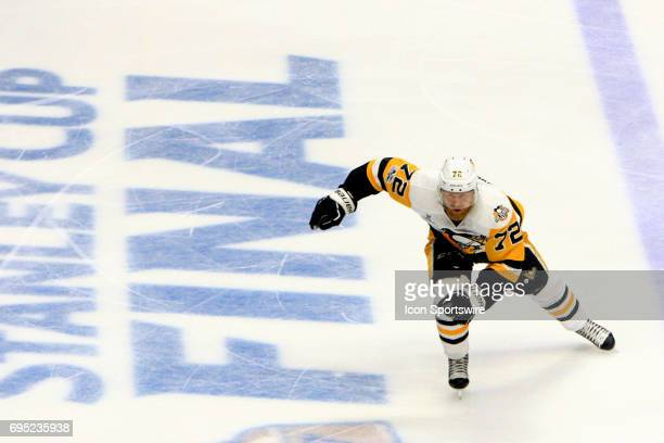 Pittsburgh Penguins right wing Patric Hornqvist skates off the ice during Game 6 of the Stanley Cup Final between the Nashville Predators and the...