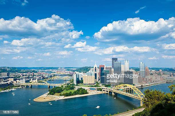Pittsburgh, Pennsylvania Skyline With Allegheny and Monongahela Rivers