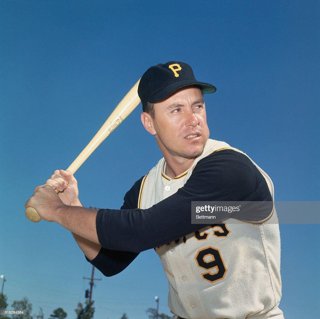 Pittsburgh Pirate Bill Mazeroski with Bat