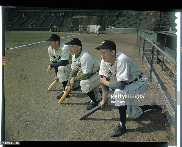 Pittsburgh Pirate players Max West Johnny Hopp Dixie Walker