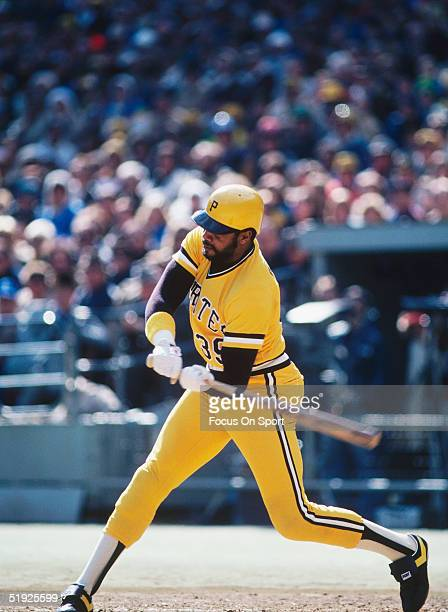 Pittsburgh Pirates' Dave Parker swings against the Baltimore Orioles during the World Series at Three Rivers Stadium in October of 1979 in Pittsburgh...
