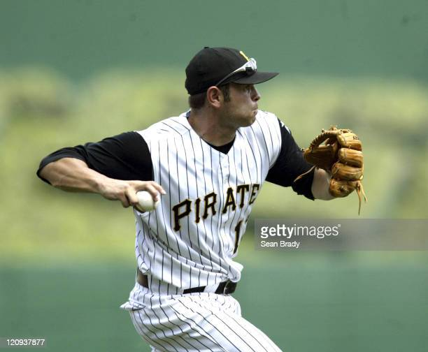 Pittsburgh Pirates Freddy Sanchez in action against the Tampa Bay Devil Rays on June 12 2005 at PNC Park in Pittsburgh Pennsylvania
