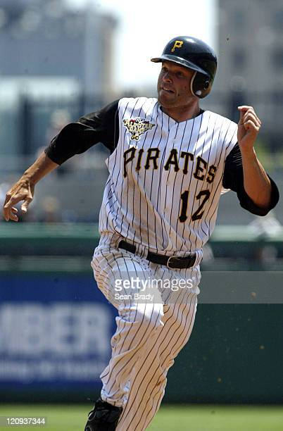 Pittsburgh Pirates Freddy Sanchez runs to third base during action against Washington at PNC Park in Pittsburgh Pennsylvania on July 16 2006