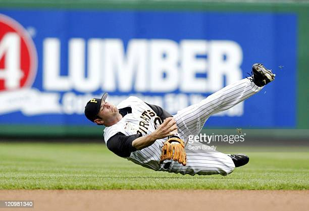 Pittsburgh Pirates Freddy Sanchez throws to first during action against San Diego at PNC Park in Pittsburgh Pennsylvania on June 4 2006