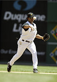 Pittsburgh Pirates Jose Castillo in action against the Tampa Bay Devil Rays on June 12 2005 at PNC Park in Pittsburgh Pennsylvania