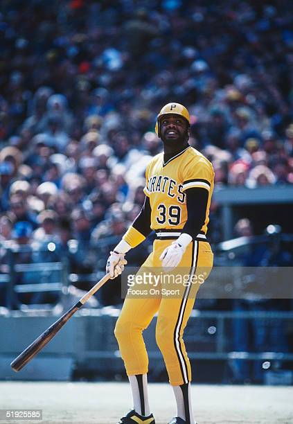 Pittsburgh Pirates' outfielder Dave Parker steps up to the plate against the Baltimore Orioles during the World Series at Three Rivers Stadium in...