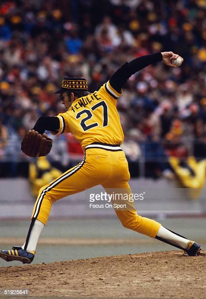 Pittsburgh Pirates' pitcher Kent Tekulve pitches against the Baltimore Orioles during the World Series at Three Rivers Stadium in October of 1979 in...