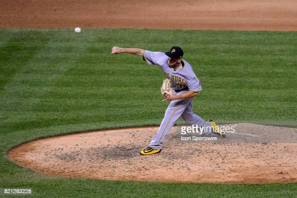 Pittsburgh Pirates relief pitcher AJ Schugel pitches during a regular season Major League Baseball game between the Pittsburgh Pirates and the...