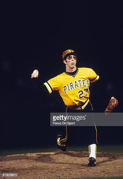 Pittsburgh Pirates' reliever Kent Tekulve pitches against the Baltimore Orioles during the World Series at Three Rivers Stadium in October of 1979 in...