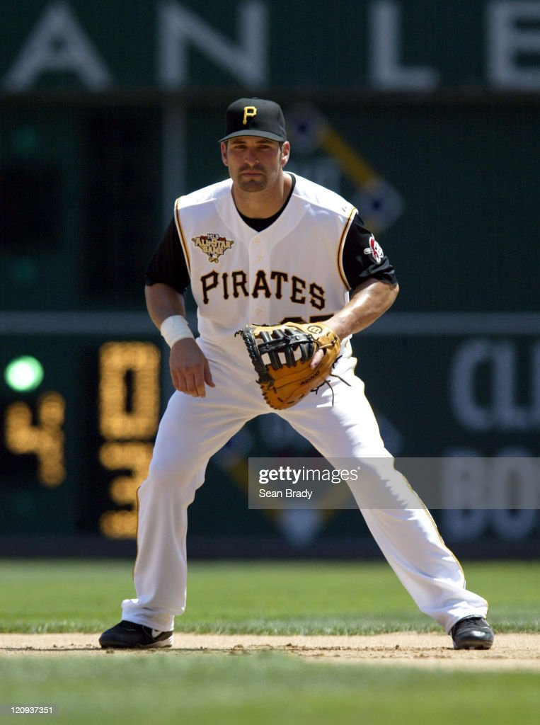 Pittsburgh Pirates Xavier Nady sets for play against Atlanta at PNC Park in Pittsburgh, Pennsylvania on August 3, 2006.