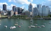 Pittsburgh skyline over Alleghany River