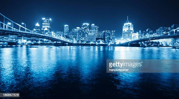 Pittsburgh skyline view by night