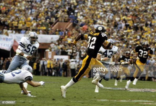 Pittsburgh Steelers Hall of Fame wide receiver John Stallworth streaks down the field on a 75yard touchdown pass during Super Bowl XIII a 3531...