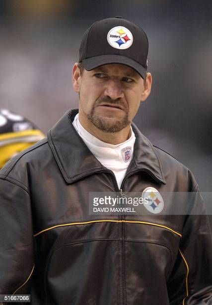 Pittsburgh Steelers' head coach Bill Cowher watches from the sidelines during the second quarter against the Baltimore Ravens on 29 December 2002 at...