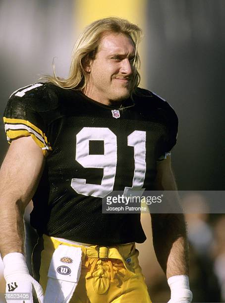 Pittsburgh Steelers linebacker Kevin Greene in pregame warm ups before the Steelers 2717 loss to the Dallas Cowboys in Super Bowl XXX on January 28...