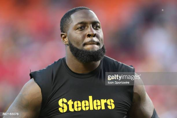 Pittsburgh Steelers offensive tackle Jerald Hawkins after a week 6 NFL game between the Pittsburgh Steelers and Kansas City Chiefs on October 15 2017...