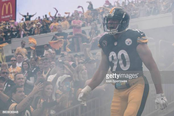 Pittsburgh Steelers outside linebacker TJ Watt screams with emotion during the game between the Jacksonville Jaguars and the Pittsburgh Steelers on...