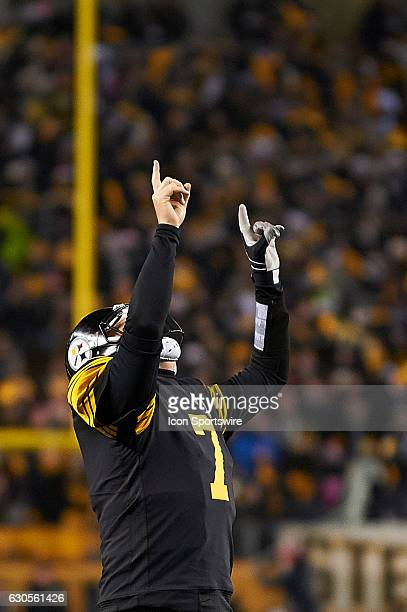 Pittsburgh Steelers quarterback Ben Roethlisberger celebrates a touchdown during a NFL football game between the Pittsburgh Steelers and the...