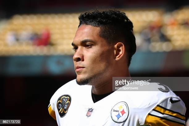 Pittsburgh Steelers running back James Conner before a week 6 NFL game between the Pittsburgh Steelers and Kansas City Chiefs on October 15 2017 at...