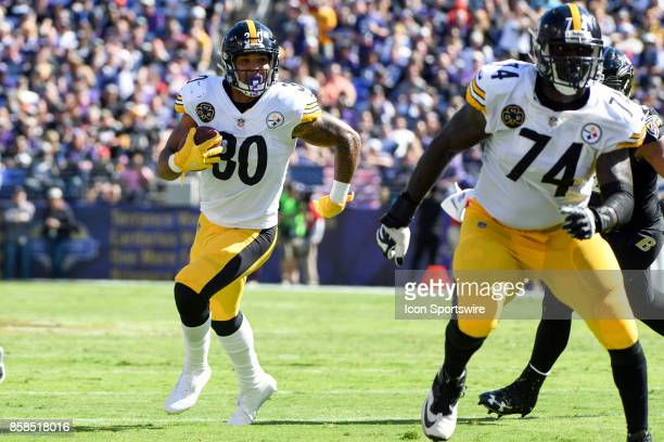Pittsburgh Steelers running back James Conner in action against the Baltimore Ravens on October 1 at MT Bank Stadium in Baltimore MD The Pittsburgh...