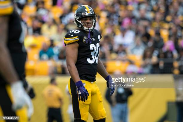 Pittsburgh Steelers running back James Conner looks on during the game between the Jacksonville Jaguars and the Pittsburgh Steelers on October 8 2017...