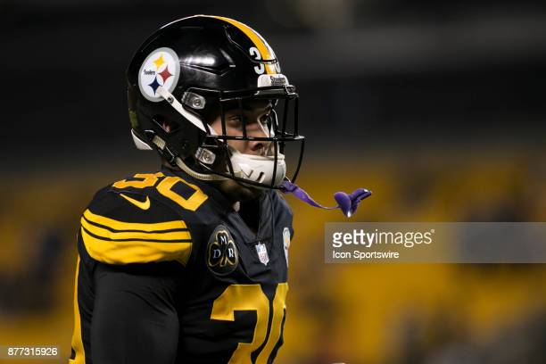 Pittsburgh Steelers Running Back James Conner looks on during the game between the Tennessee Titans and the Pittsburgh Steelers on November 16 2017...